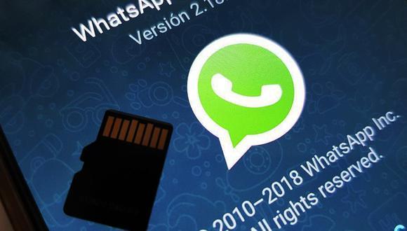 ¿Quieres mover tus conversaciones de WhatsApp a una MicroSD por ocupar demasiado espacio? Usa este truco. (Foto: WhatsApp)