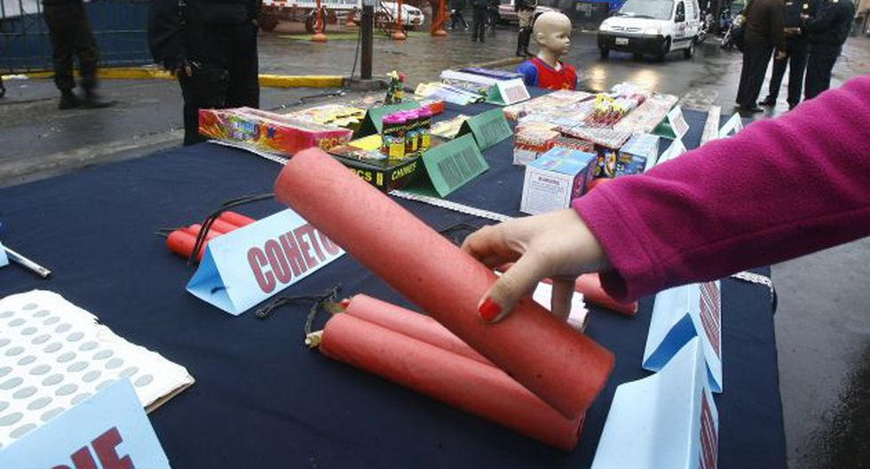 Venta de pirotécnicos: Solo siete ferias en Lima tienen autorización. (USI)