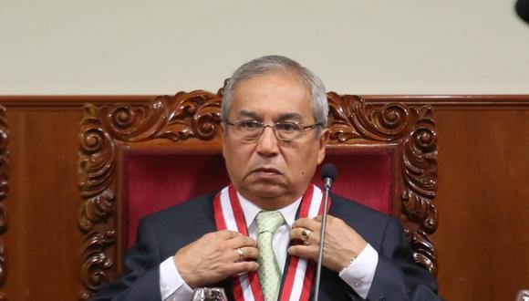 El fiscal de la Nación, Pedro Chávarry, asegura que su calificación inicial de 69,22 permitió su ratificación automática. (FOTO: USI)