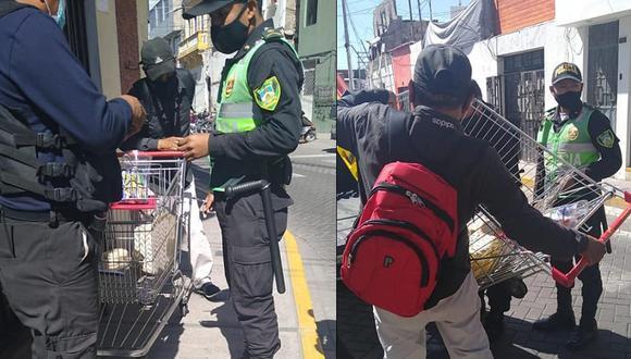 Hombre fue interceptado por serenos y luego trasladado a la comisaría del sector (Foto: Municipalidad de Yanahuara)