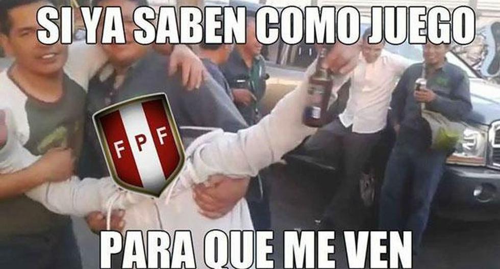 Perú solo tuvo chispazos de buen fútbol. (Memesgratis.com)