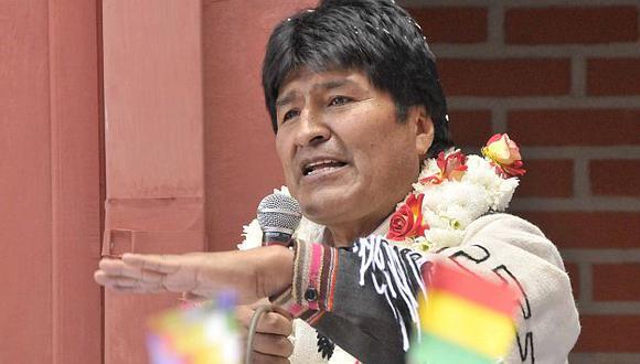 Evo Morales dio un discurso con motivo del aniversario patrio. (Reuters)