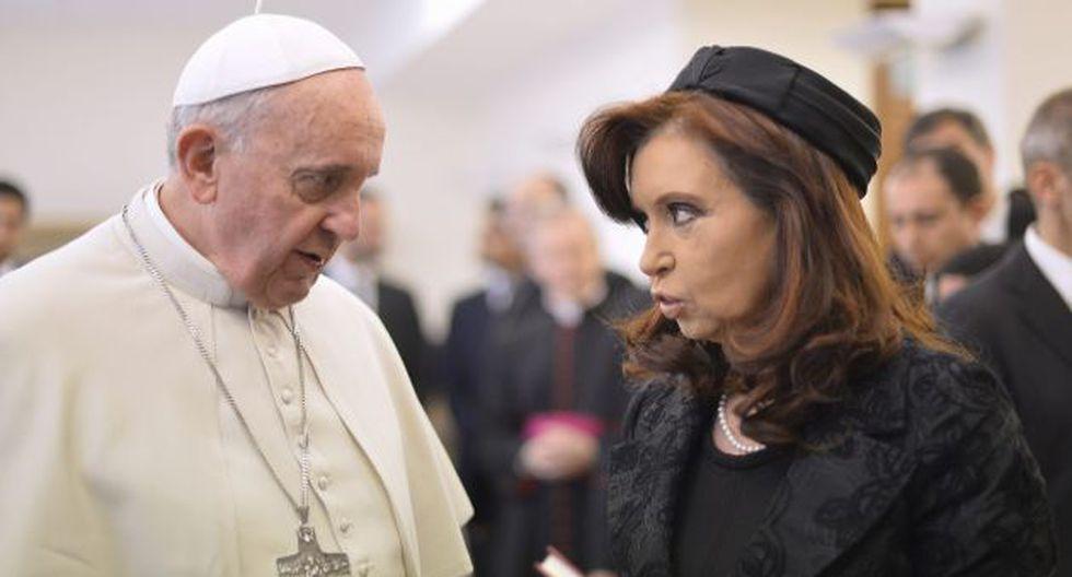 La presidenta argentina y el Papa Francisco en laa última reunión que tuvieron. (Reuters)