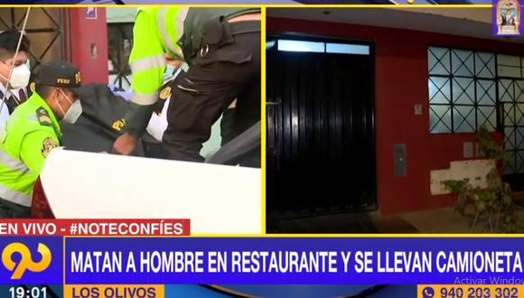 El crimen ocurrió en un restaurante ubicado en la urbanización San Martín de Porres, en Los Olivos. (Latina)