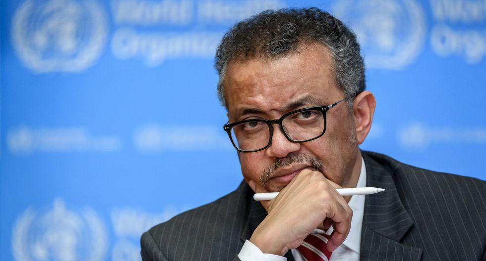 En esta foto de archivo tomada el 11 de marzo de 2020, el Director General de la Organización Mundial de la Salud (OMS), Tedros Adhanom Ghebreyesus, asiste a una rueda de prensa en Ginebra. (Fabrice COFFRINI / AFP).