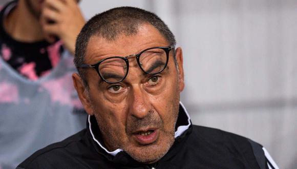 Maurizio Sarri no dirigió el entrenamiento de Juventus este lunes. (Foto: AFP)