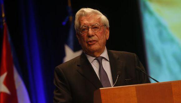 Mario Vargas Llosa: 'Me gustaría que Nadine sea la candidata del 2021'. (César Fajardo)