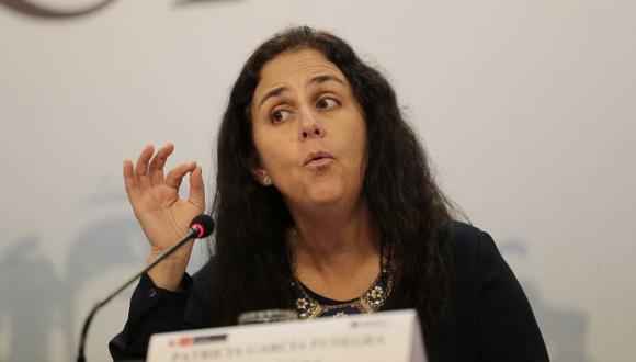 Patricia García felicitó a médicos que sí están trabajando. (Luis Centurión)
