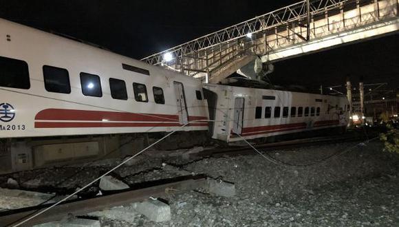 El tren llevaba más de 360 pasajeros desde un suburbio de Taipei a Taitung, una ciudad en la costa suroriental. (Foto: AFP)