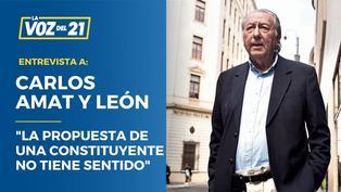 """Carlos Amat y León: """"La propuesta de una Constituyente no tiene sentido"""""""