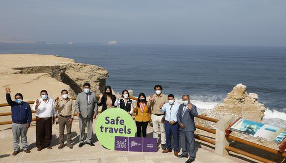 """""""La reactivación turística es trascendental, pero debe ir junto al cumplimiento estricto de los protocolos de bioseguridad"""", manifestó la ministra del Mincetur, Claudia Cornejo. (Fotos: Mincetur)"""