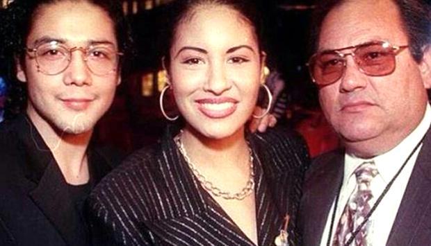 Chris Pérez, Selena Quintanilla and her father, Don Abraham Quintanilla.  (Photo: Instagram)