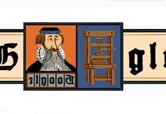 """Google rinde homenaje con un doodle a Johannes Gutenberg, el """"padre de la imprenta"""""""
