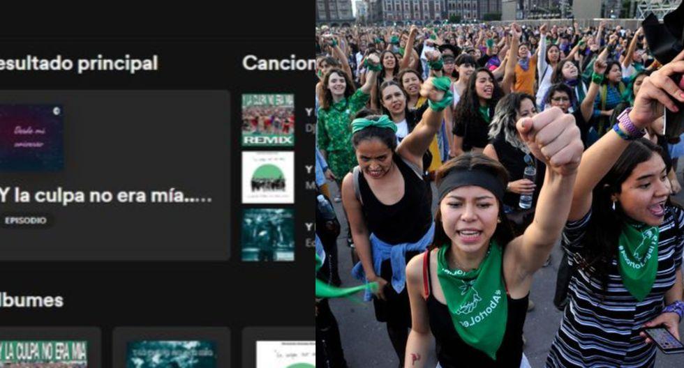 Usuarios exigen a Spotify retirar versión bailable de 'Y la culpa no era mía'. (Captura)