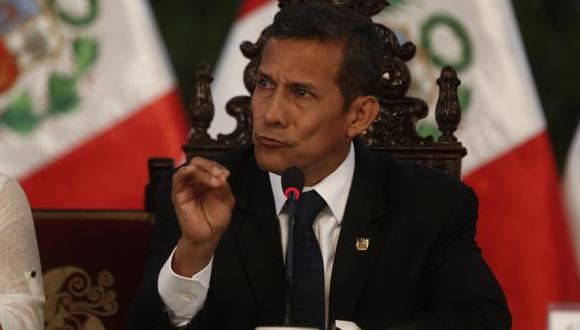 Ollanta Humala declaró a la prensa desde Ate Vitarte. (Roberto Cáceres)