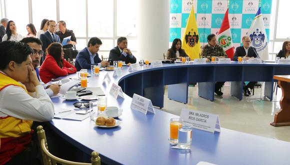 Sesión ordinaria del Comité Regional de Seguridad Ciudadana se realizó en San Juan de Lurigancho (FOTO: Municipalidad de SJL)