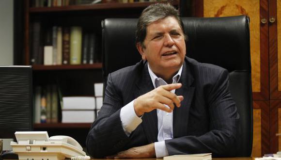 Alan García insiste en que los 'narcoindultos' fueron legales. (Perú21)