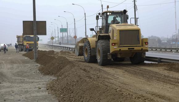 Municipalidad de Lima señaló que los trabajos de rehabilitación del cruce de las avenidas Ramiro Prialé y Las Torres culminarán mañana, martes 24 de septiembre.(Foto: Difusión)