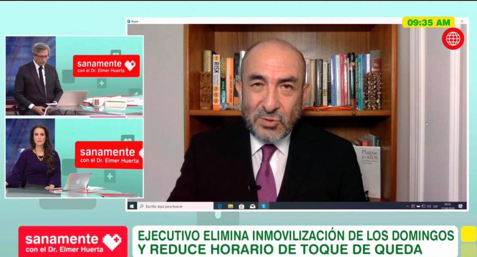 El doctor Elmer Huerta se refirió sobre la actual situación del coronavirus en el Perú. (Captura de pantalla/América TV).