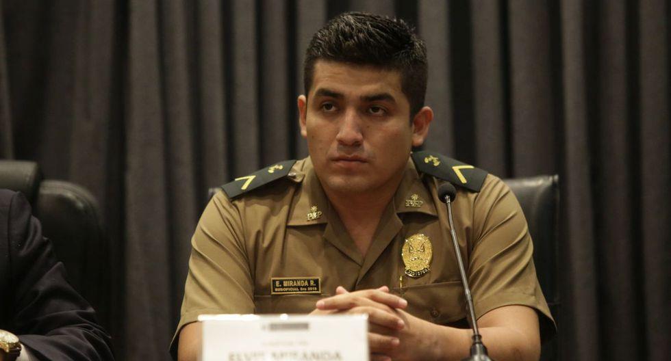 Elvis Miranda es procesado por abatir a un presunto hampón en una intervención en Castilla. (GEC)