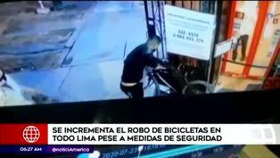 Robo de bicicletas se intensifica en Lima