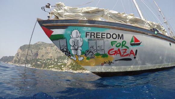 Barco trataba de romper el bloqueo a la franja de Gaza. (Foto: Twitter Rumbo a Gaza)