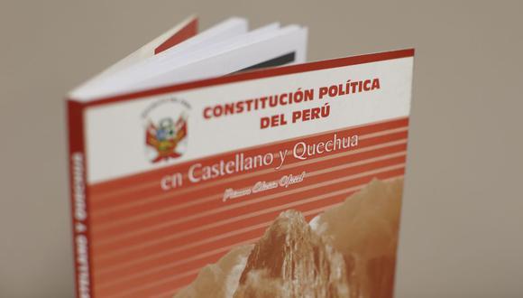 """""""La Constitución es, en definitiva, el texto que debe materializar el concepto de Estado y la base legal sobre la cual se construye el país que queremos"""", sostiene De Belaunde. (@photogec)"""