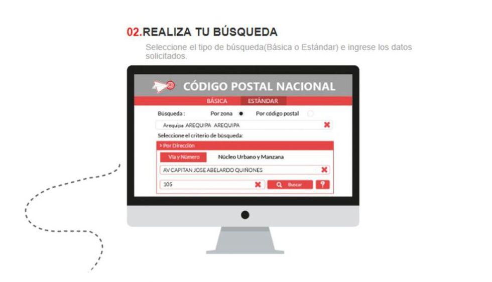 Solo ingresa una dirección para conocer el Código Postal de la localidad en consulta (Foto: Gobierno del Perú)