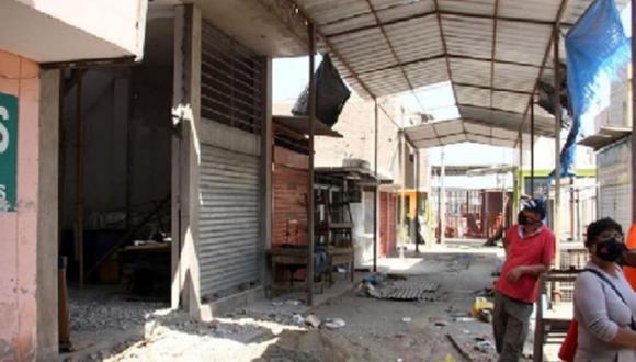 Para reabrir La Hermelinda se está exigiendo a los vendedores que antes se hagan una prueba rápida de descarte del coronavirus. (Foto: Municipalidad Provincial de Trujillo)