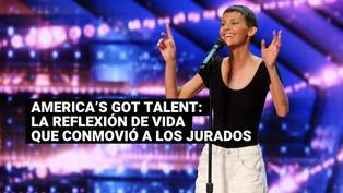 America's Got Talent: así reaccionaron los jurados tras la reflexión de una concursante con cáncer