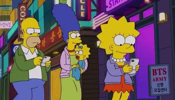 Los Simpson incluyen a BTS en uno de sus capítulos. (Foto: Captura de YouTube)
