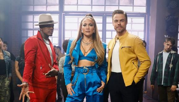 "Jennifer Lopez junto a Derek Hough y Ne-Yo, jurado del reality ""World of Dance"". (Foto: @nbcworldofdance)"