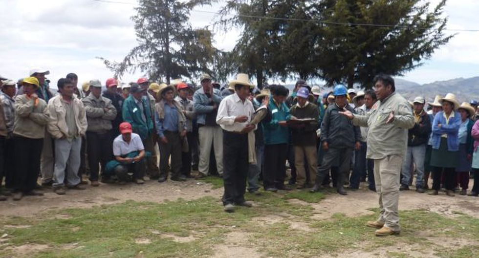 PROTESTA. Ronderos dicen que minera no tiene 'licencia social'. (Difusión)