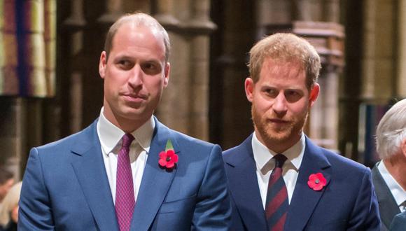 Los príncipes Guillermo de Cambridge y Enrique de Sussex en 2018. (Foto: AFP | Paul Grover)