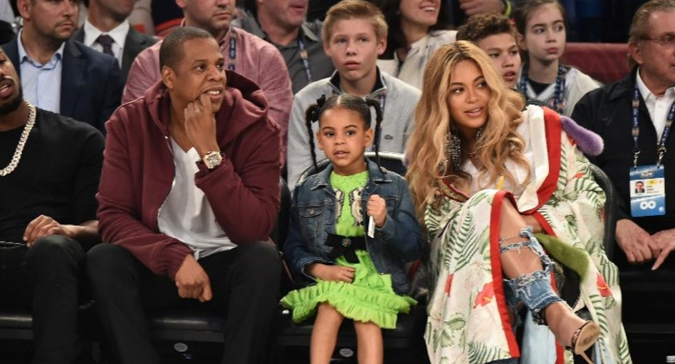 Beyoncé y el gran parecido con su hija Blue Ivy. (Foto: AFP)
