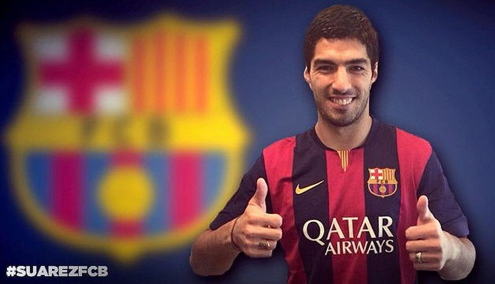 El delantero uruguayo Luis Suárez ya pertenece al Barcelona. Su anterior club es el Liverpool inglés. Precio del pase: US$108 millones. (EFE)