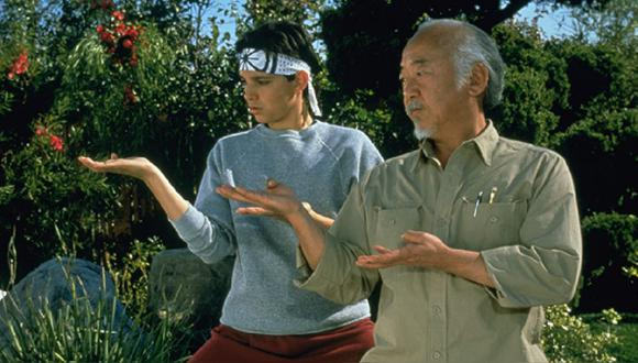 """El actor Pat Morita interpretó al señor Miyagi en las cintas de """"The Karate Kid"""" (Foto: Columbia Pictures)"""