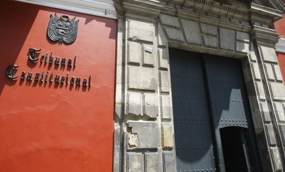 Fachada del Tribunal Constitucional en el Centro de Lima. (USI)