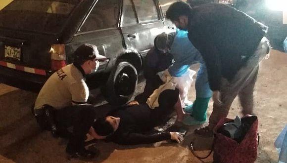 La Libertad: Gestante dio a luz en la calle porque auto se malogró camino al hospital. (PNP)