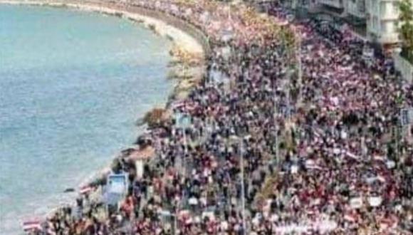 Imagen corresponde a una protesta de Egipto en 2011. (Foto: redes sociales)