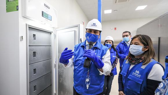 Titular del Seguro social viajó a la región Junín para supervisar los avances en construcción del Hospital Bicentenario de Jauja, 1 de los 13 hospitales modulares que proyectan  inaugurar. (Foto: EsSalud)