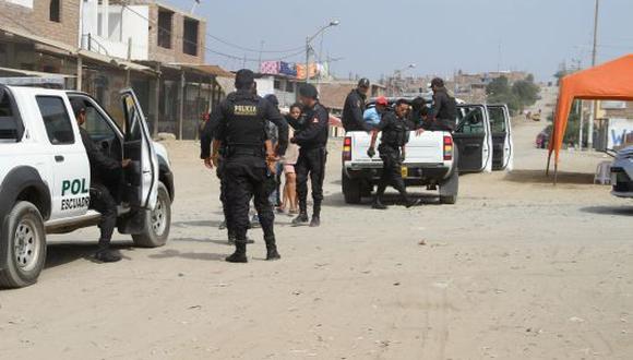 Luego del doble crimen, la Policía hizo una operación en la zona. (USI)