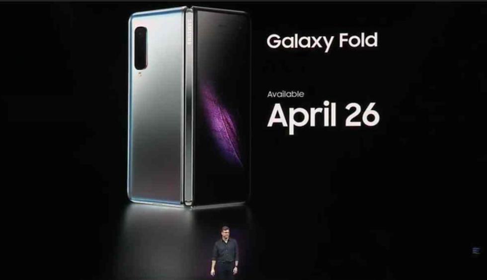 Así se ve el Samsung Galaxy Fold. (Foto: Captura de YouTube)