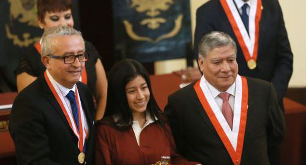 Dhayana Tenorio ingresó a la carrera de Medicina con un puntaje de 1 788.500 en el cómputo genera de la UNMSM. (Andina)