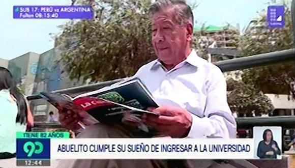 Cadillo Quino indicó que se preparó en su hogar para ingresar a la Universidad de Lima.(Foto: Captura 'Latina')