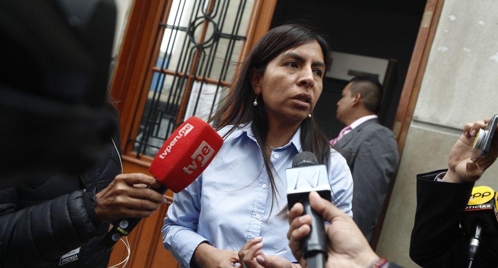 Giulliana Loza manifestó que la orden de prisión preventiva dada contra Keiko tiene como finalidad que no participe en las elecciones generales del 2021. (GEC).