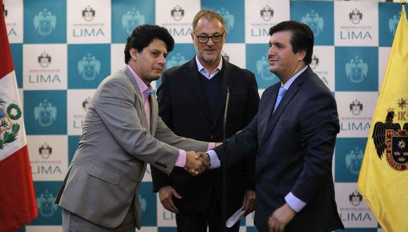 Los alcaldes de San Martín de Porres e Independencia se reunieron con el burgomaestre de Lima, Jorge Muñoz. (Difusión)