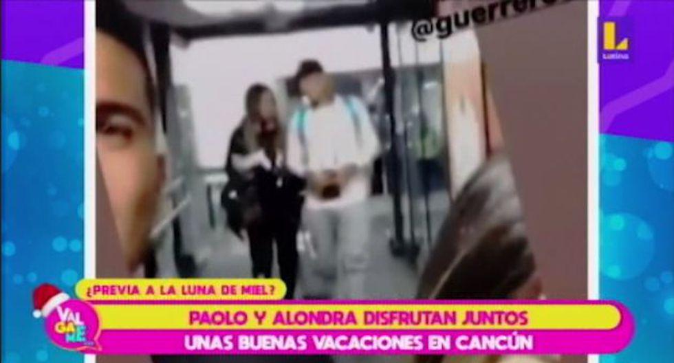 Alondra García y Paolo Guerrero viajaron a Cancún. (Imagen: Latina)