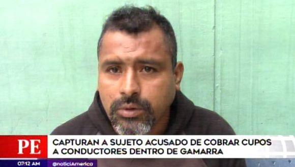 Angello Lovera Tello fue detenido por la policía. (Foto: Captura de video / América Noticias)