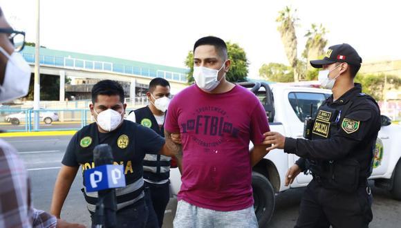Bryan Paolo Avilés Montonegro fue capturado por la Policía en el Callao. (Fotos: Jessica Vicente/@photo.gec)